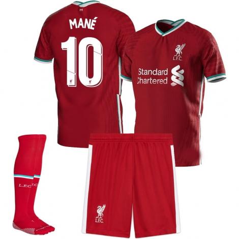 Детская домашняя форма Ливерпуль 2020-2021 Мане номер 10 (футболка + шорты + гетры)
