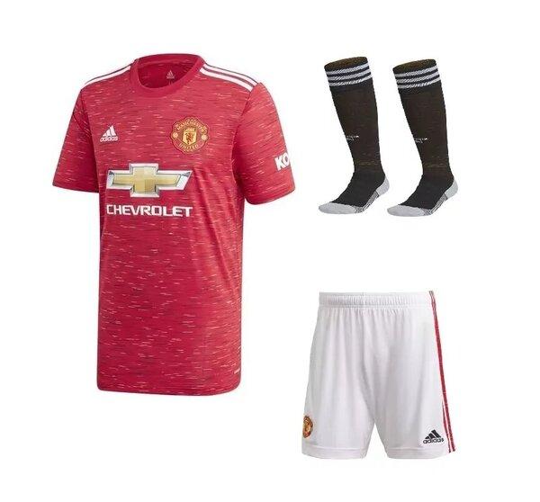 Манчестер Юнайтед домашняя детская форма сезон 2020-2021 (футболка + шорты + гетры)